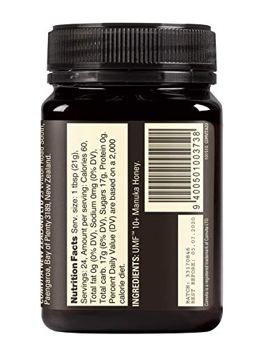 Comvita Certified UMF 10+ (MGO 263+) Manuka Honey | New Zealand's #1 Manuka Brand | Raw, Non-GMO, Halal, and Kosher | Premium Grade (17.6 oz) by Comvita (Image #4)