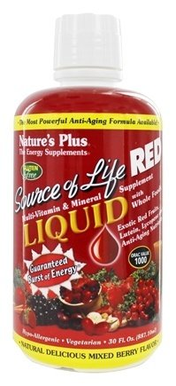 Nature's Plus - Source of Life RED Liquid - Mixed Berry Flavor, 30 fluid (Life Red Multivitamin)