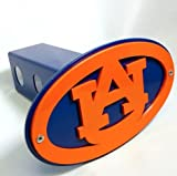 Innovative Logo Auburn University Tigers Trailer Hitch Cover- Officially Licensed- Orange/Blue with Border