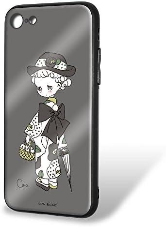 Caho iPhone8 ケース ガラス プリント TPU 着物と花E (ch-005) スマホケース アイフォンエイト 硝子 輝き 光沢 ツヤ スリム 薄型 カバー WN-LC535767