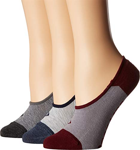 Sperry Top-Sider Women's 3 Pack Canoe No Show Liner Socks, Gray Heather Assorted, Shoe 4-10/Sock Size 9-11 by Sperry Top-Sider