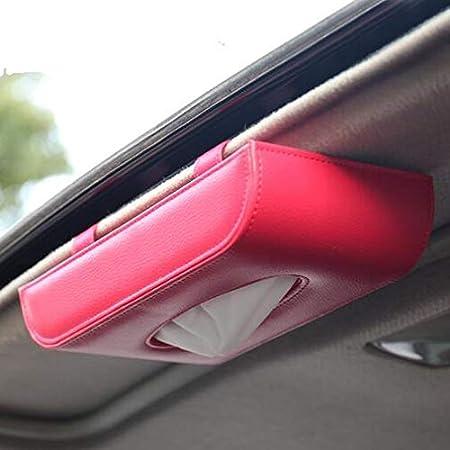 Carworld Auto Tissue Box Visier Typ Pu Leder Auto Taschentuch Box Serviettenhalter Auto Taschentuchhalter Autositzbox Auto Zubehör Sonnenblende Typ Sport Freizeit