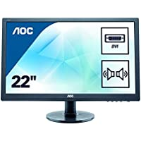 AOC e2260Swda Professional 21.5 LED-Backlit LCD Monitor, Black