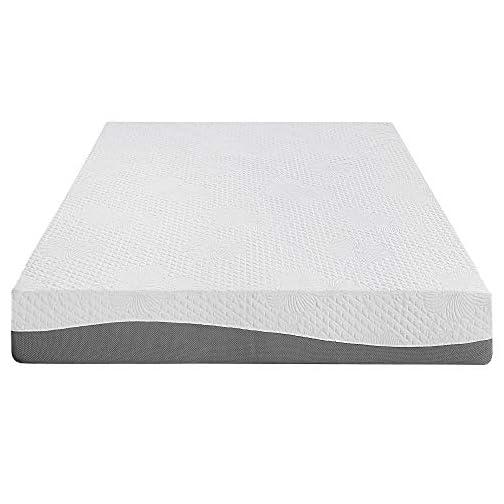 PrimaSleep 10 Inch Wave Gel Infused Memory Foam Mattress,Gray (Twin)