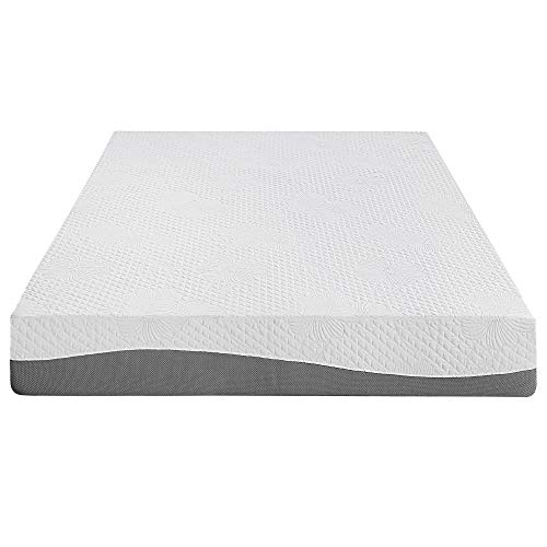 Olee Sleep 10 Inch Grey I Gel Layer Top Memory Foam Mattress 10FM02Q