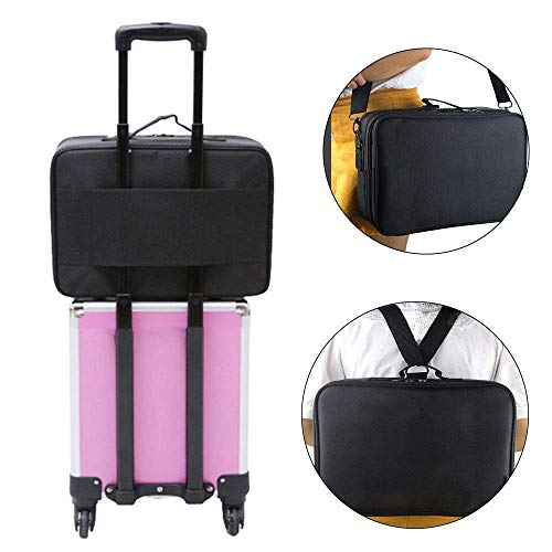 Other Professional Storage Partition Cosmetic Box Three Waterproof Layer Travel Makeup Bag-Black        Amazon imported products in Lahore