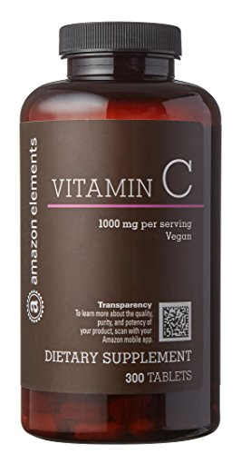 Cheap Amazon Brand – Amazon Elements Vitamin C 1000mg, Vegan, 300 Tablets, 10 month supply
