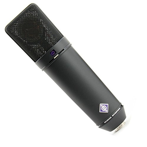 Neumann Microphone Set, Includes U 87 AI MT Microphone, EA 87 MT Elastic Suspension, WS 87 Windscreen, IC 3/25 Cable, Wooden Case, Black ()