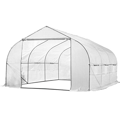 Biltek 11ft Portable Walk-in Garden Greenhouse Outdoor Green House for Growing Fruits, Vegetables, Plants, and Flowers – 11′ Long x 10′ Wide x 7′ High