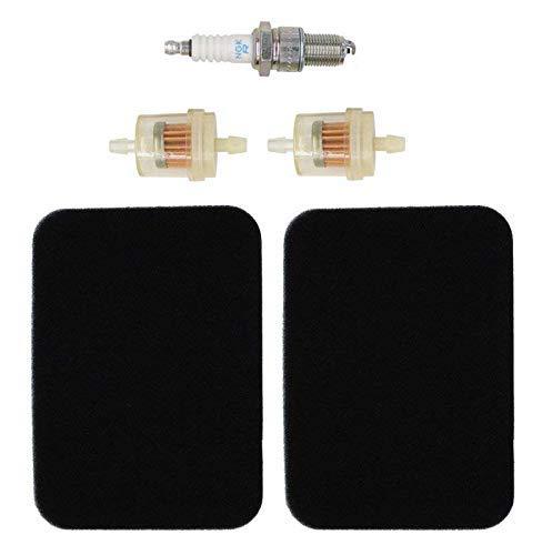 17211-899-000 Air Filter with Fuel Filter Spark Plug for Honda GX240 GX270 GX340 GX390 Engine Generator EB3000 EB3500 EB3800 EB4000 EB5000 EB6500 EM3000 EM3500 EM3800 EM4000 EM5000 EM6000 EMS4500