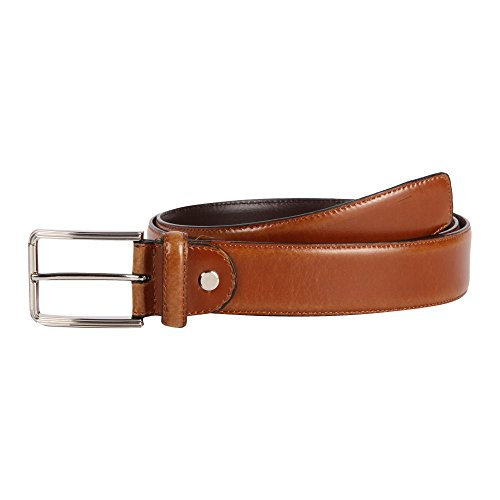 37-38 Affilare Men's Genuine Italian Leather Dress Belt 35mm Tan 12BS653TN from Affilare