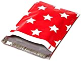 Red with White Stars Poly Mailer