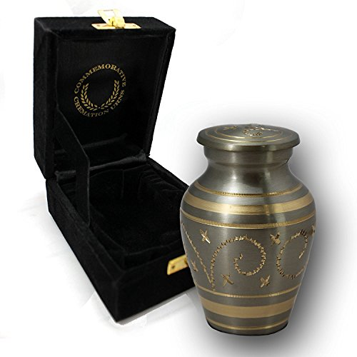 Light Urn - Star Light - Funeral, Burial, Niche or Columbarium Small Cremation Urn for Human Ashes - 100% Brass - Small/Keepsake