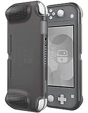 ATUMTEK Funda Protectora para Nintendo Switch Lite 2019, Carcasa de TPU de Cómodo Agarre con Diseño Curvo para Switch Lite [Anti Golpes, Anti Rayones, Anti Huellas Dactilares] – Negro Transparente