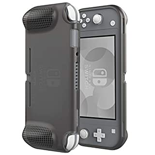ATUMTEK Protective Case for Nintendo Switch Lite 2019, Comfortable Grip TPU Cover with Curve Design for Switch Lite [Shock-Proof, Anti-Scratch, Anti-Fingerprints] - Clear Black