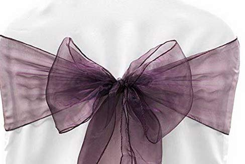 Mikash Pack of 50 Organza Chair sash Bow Sashes for, used for sale  Delivered anywhere in USA