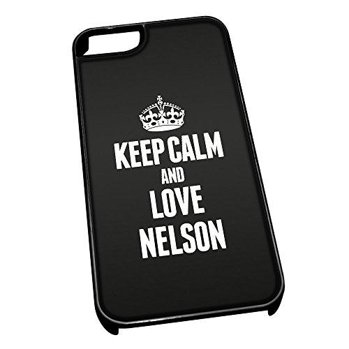 Nero cover per iPhone 5/5S 0450nero Keep Calm and Love Nelson