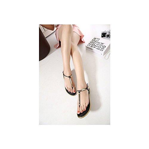 Sandalias de Vestir de cuero mujer Negro