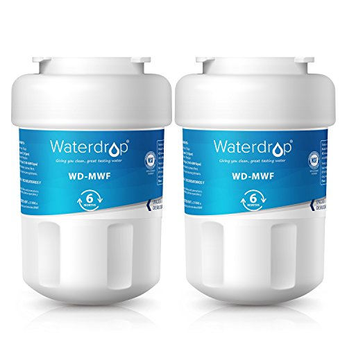 Waterdrop MWF Refrigerator Water Filter Replacement for GE MWF, MWFP, MWFA, GWF, GWFA, SmartWater, Kenmore 9991, 46-9991, 469991-Standard Series-2 Pack by Waterdrop
