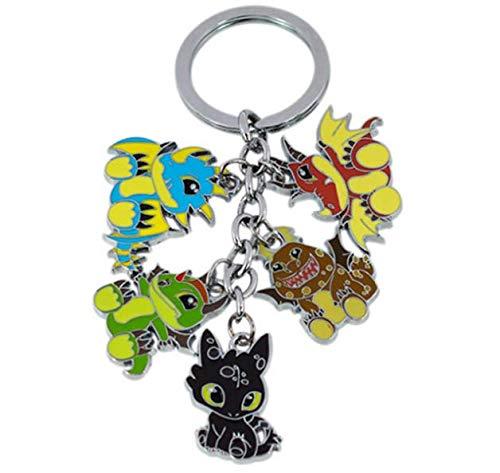 WinVI How to Train Your Dragon Metal Charm Keychain Keyring