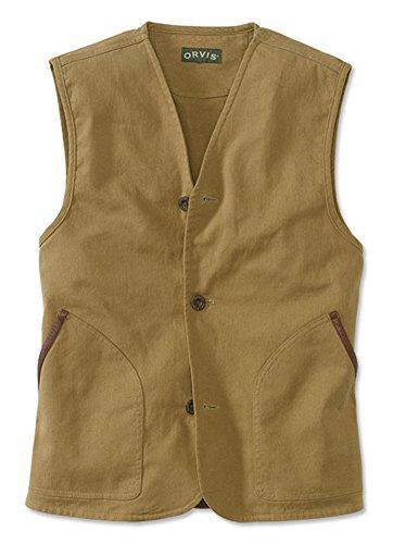 Orvis Men's Zambezi Vest, Khaki, Large (Vest Cotton Orvis)