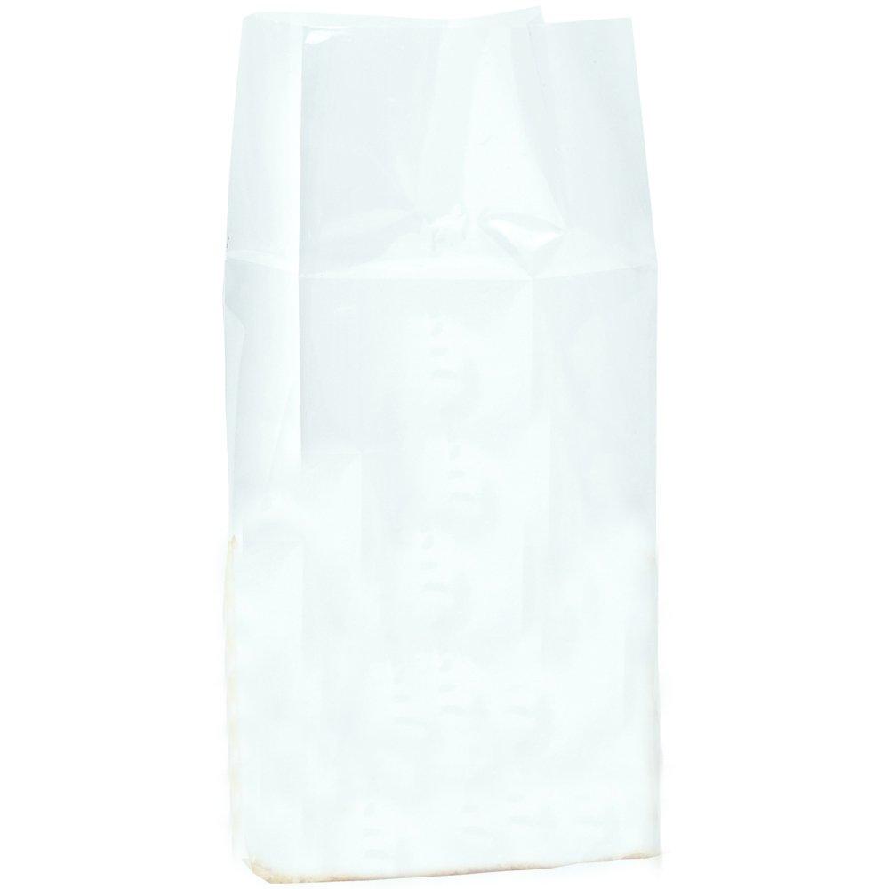 Aviditi PBG105 Gusseted Polypropylene Poly Bags, 2 1/2