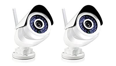 2 Pack White Swann SWO-SVC02K-US One SoundView Cam, Outdoor