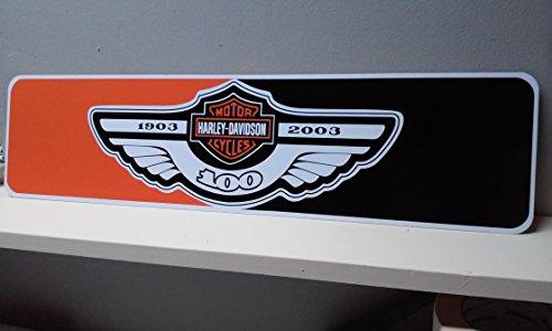 Harley 100th Anniversary - Harley Davidson 100th Anniversary two tone aluminum sign