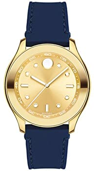 Movado Bold Gold Dial Blue Silicone Womens's Watch