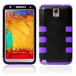 Hybrid Combo Robot Hard Case For Samsung Galaxy Note 3 N9000 N9005 --- Color:Purple