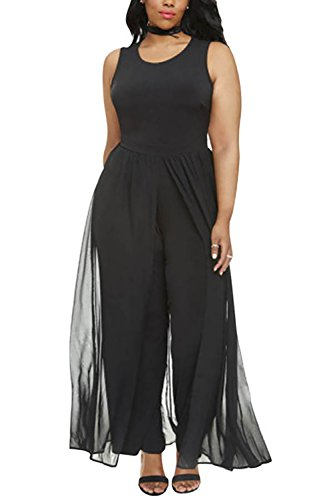 FashionFly-Womens-Plus-Size-Round-Neck-Sleeveless-Long-Pants-Jumpsuit-Chiffon-Overlay-Rompers