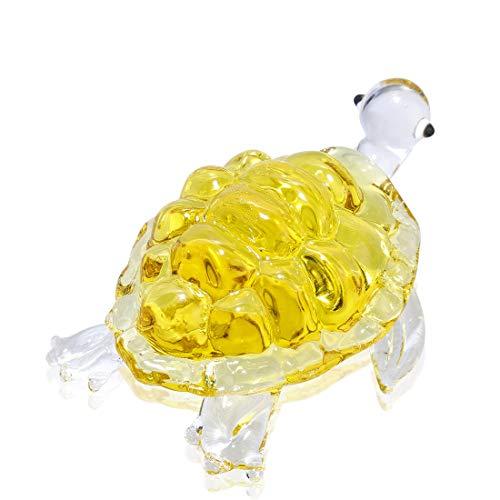 [해외]H&D 유리 거북 풍수 아이템 인테리어 문 선물 행운 인형 골드 신 거북이 / H&D Ruri`s Turtle Feng Shui Item Interior Bunjin Present Saeed Luck Figurine Gold Kamigame