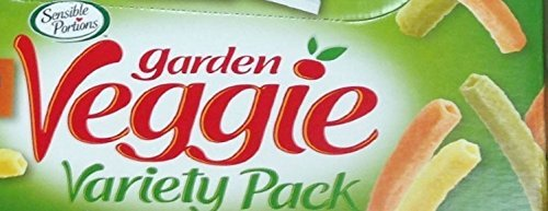 Garden Veggie Snack, Straws Shape Chips Variety Pack, 13 Bags 1 Oz Each by Sensible Portions