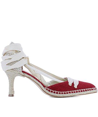 Castaner Scarpe con Tacco Donna 020472503 Tessuto Rosso