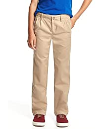 Sale All Year School Pleated Straight-Leg Uniform Khakis for Boys