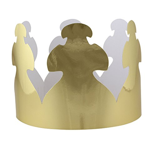 Hygloss Products Gold Paper Party Crowns - Made in The USA, 24 Pack -