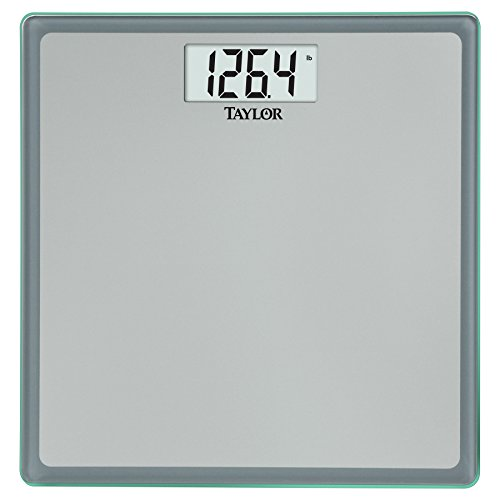 Taylor Precision Products Glass Digital Bath Scale  Grey Blue