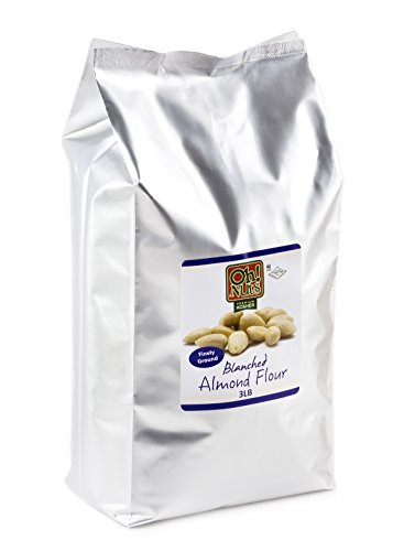 3LB Almond Flour Blanched All Natural, Flour alternatives, Extra Fine Ground Almond Meal - Oh! Nuts (3 LB (Raw Almonds Blanched Organic)