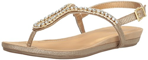 Kenneth Cole REACTION Women's Lost Star Flat Sandal, Gold, 7.5 M US