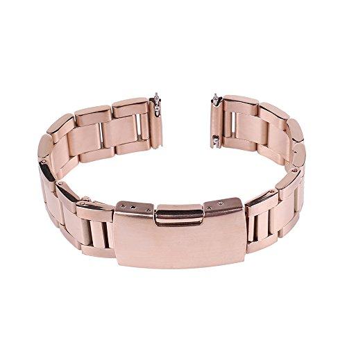 Xuexy 16mm Quick Release Pins Motorola Moto 360 42mm 2nd Gen Stainless Steel Watch Band Strap Replacement Bracelet (Moto 360 2nd Gen 42mm Women's 2015), Rose Gold