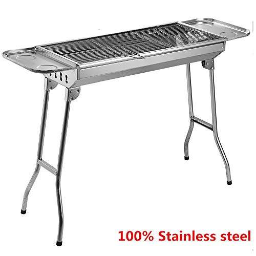 Super Bowl Tailgate - Fold Barbecue Charcoal Grill Stove Stainless Steel BBQ Best Super Bowl Tailgate