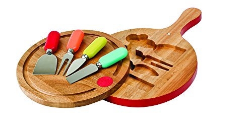 Fiesta Multi 4-Piece Cheese Tool Set with Paddle Board