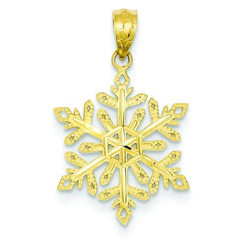 14K Yellow Gold Snowflake Pendant Charm FindingKing 14k Yellow Gold Snowflake Pendant