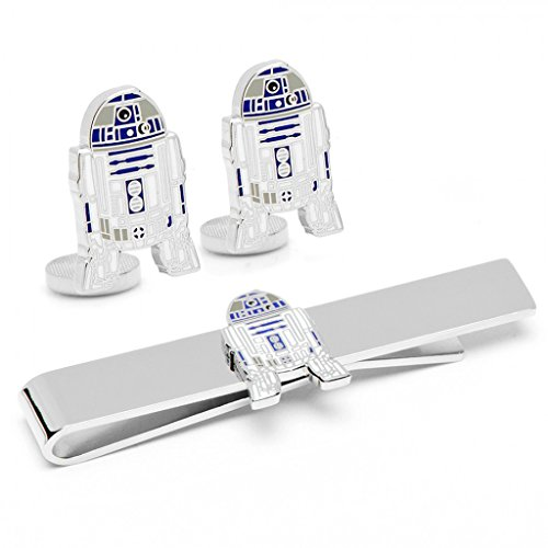 Star Wars Mens Plated R2D2 Cufflinks and Tie Bar Gift Set