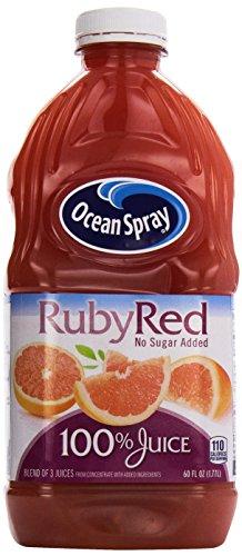 Ocean Spray Ruby Red Grapefruit Juice, No Sugar Added, 60 oz