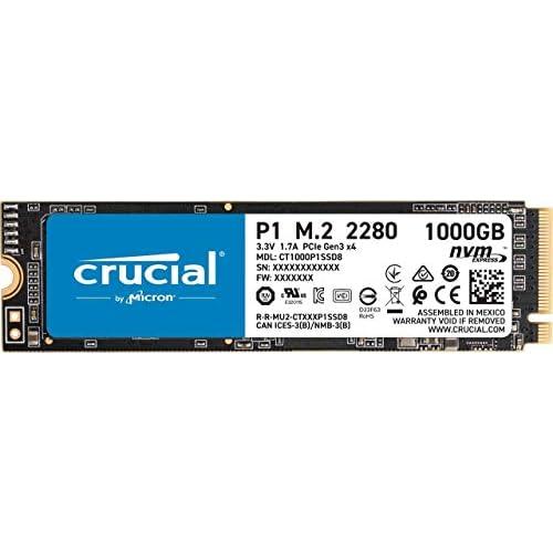 chollos oferta descuentos barato Crucial P1 1TB CT1000P1SSD8 Unidad interna de estado sólido hasta 2000 MB s 3D NAND NVMe PCIe M 2