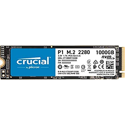 Crucial CT1000P1SSD8  3D  NAND  NVMe  PCIe  M 2  Solid State Drive
