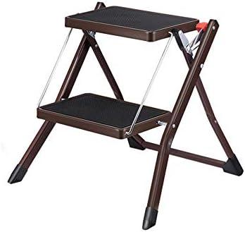 ladder stool Taburete con peldaños: Escalera Plegable de Acero Inoxidable de Dos Pasos, Mini Escalera Interior portátil: Amazon.es: Hogar