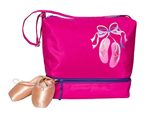 (Horizon Dance 1303 Giggle Toes Small Dance Tote Bag with Shoe Compartment -)