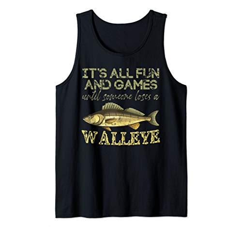 Walleye Shirt Freshwater Fishing - Men Women Kids Gift Tank Top